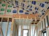 天井裏へ断熱材(ロックウール)を施工